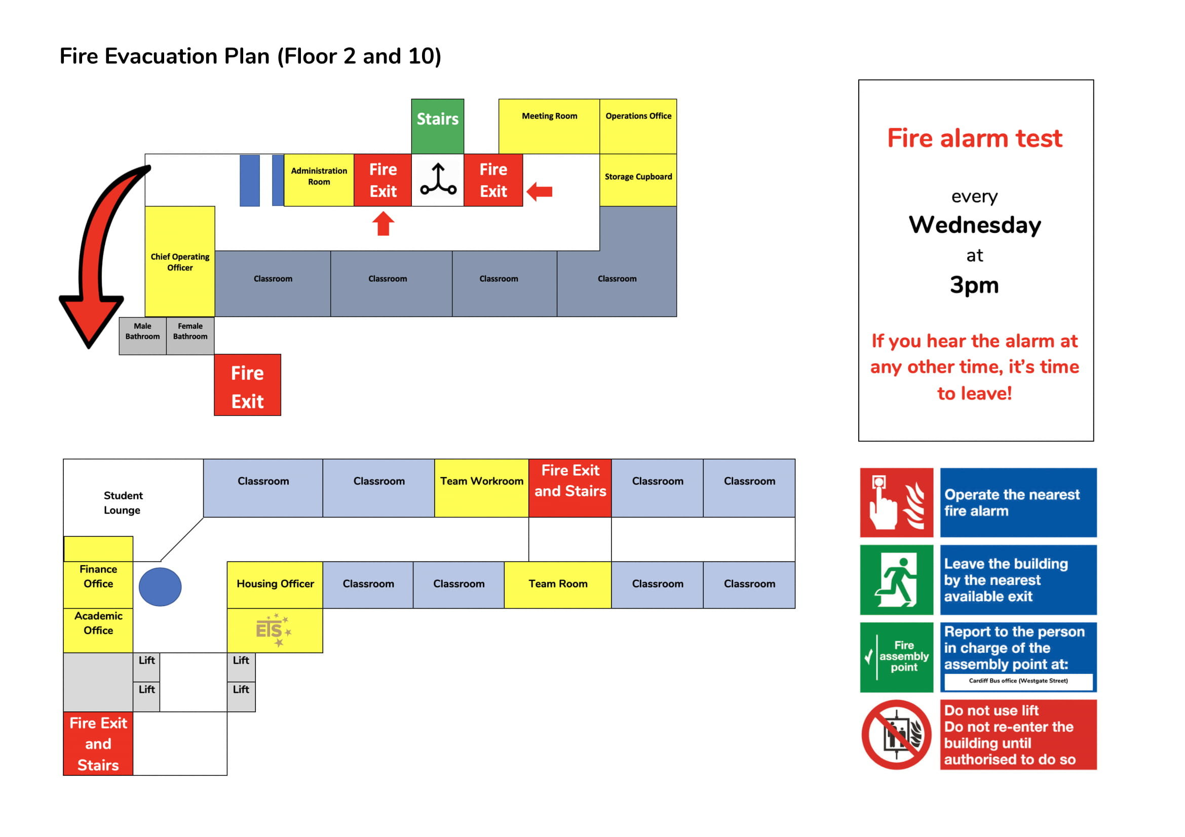 Fire Evacuation Plan 1 - Registration