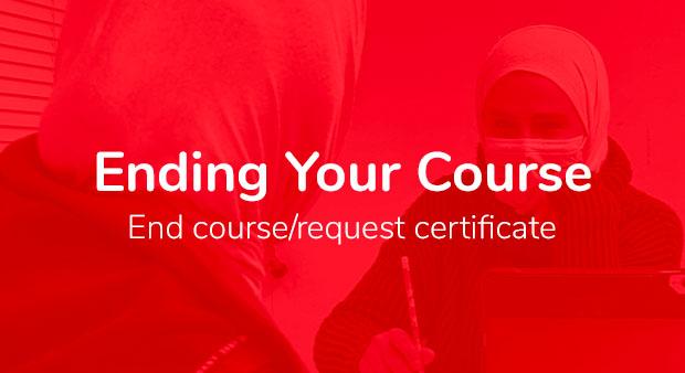 End Course - Student Portal